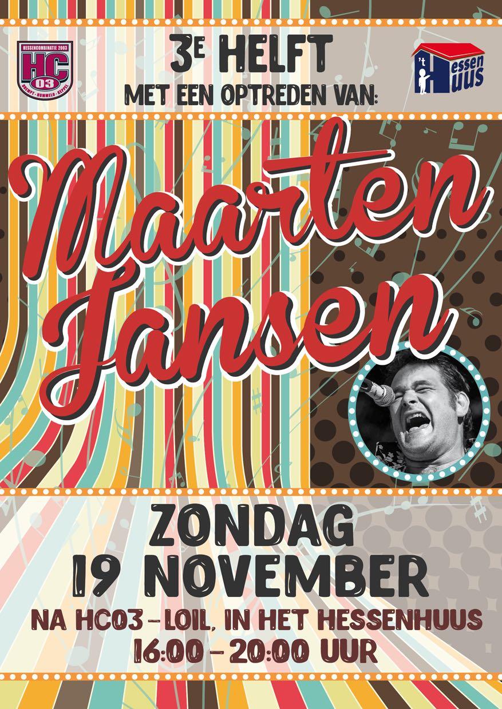 19 november: 3e helft met optreden van Maarten Jansen